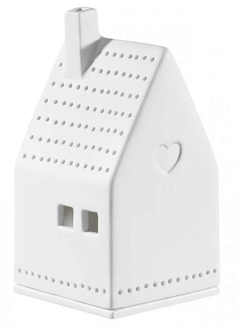 Räder Design Teelichthalter »Lichthaus Herz« (Packung, 1 Stück, 1-tlg), Haus Form