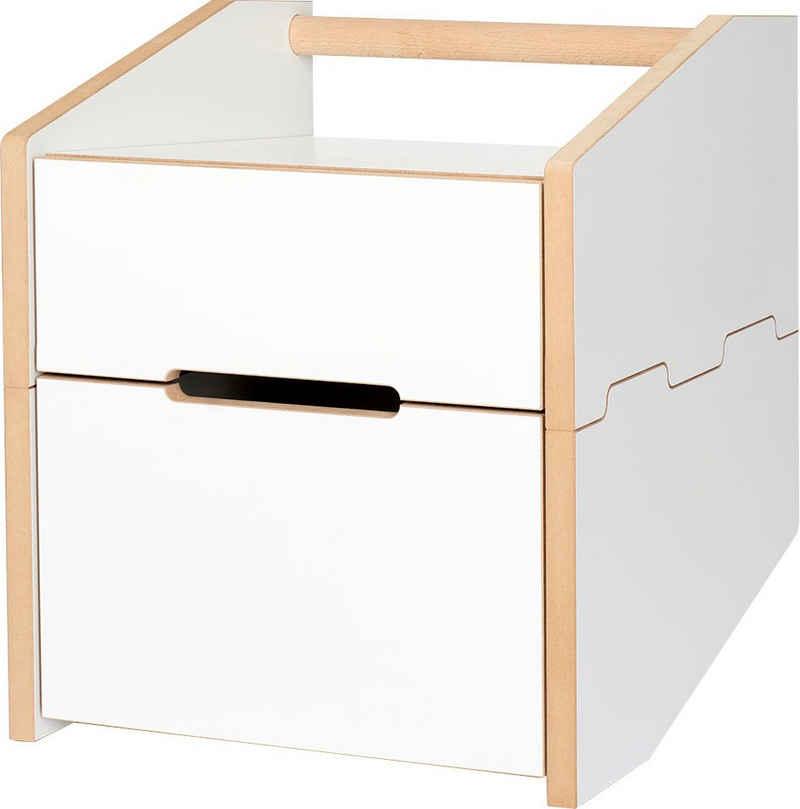 Tojo Nachttisch »Tojo-cargo nachttisch«, mit 2 Schubladen