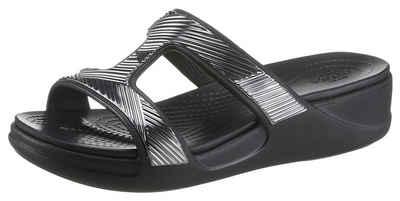 Crocs »Monterey Shimmer SO« Badepantolette im Metallic Look