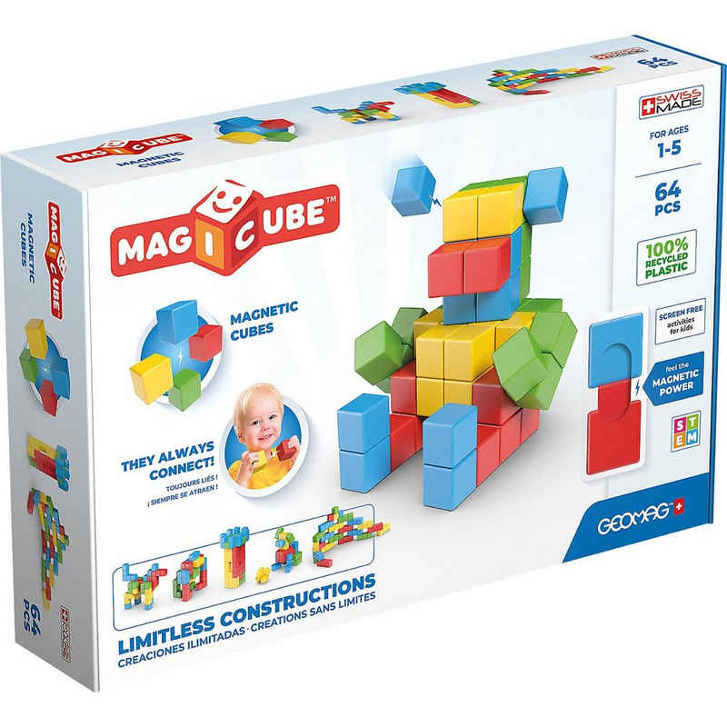 Geomag™ Magnetspielbausteine »Geomag Magicube Full Color Recycled Try me 64«
