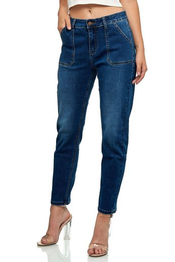 Nina Carter Boyfriend-Jeans »3320« Damen Denim Mom Jeans MALSIA