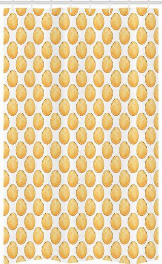Abakuhaus Duschvorhang »Badezimmer Deko Set aus Stoff mit Haken« Breite 120 cm, Höhe 180 cm, Mandarine Hand Drawn Zitrusfrüchte