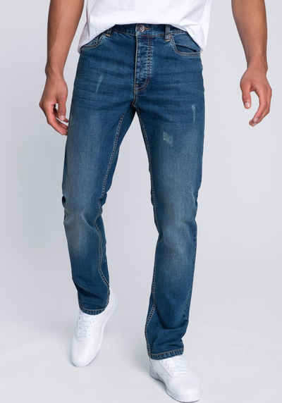 John Devin Straight-Jeans in markanter Waschung