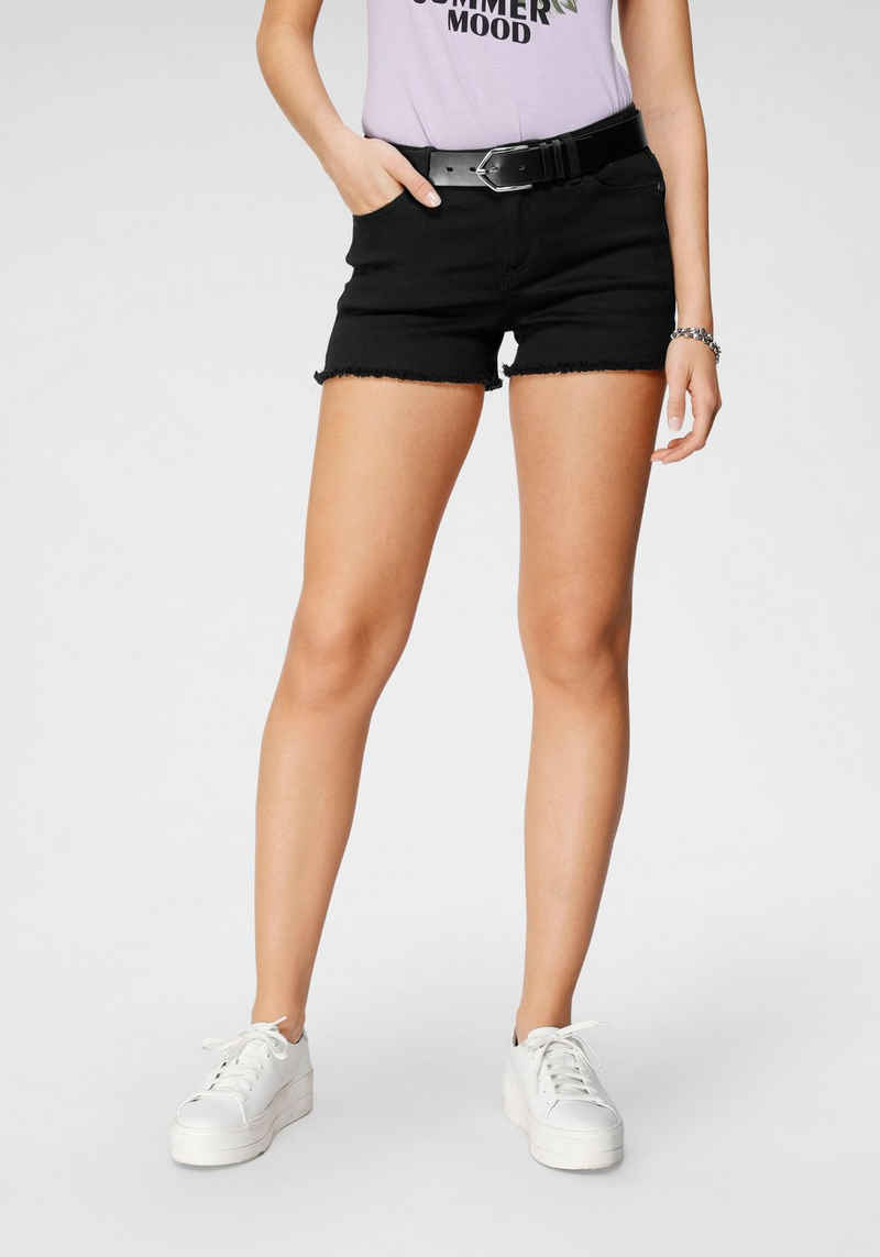 Tamaris Shorts mit Fransensaum