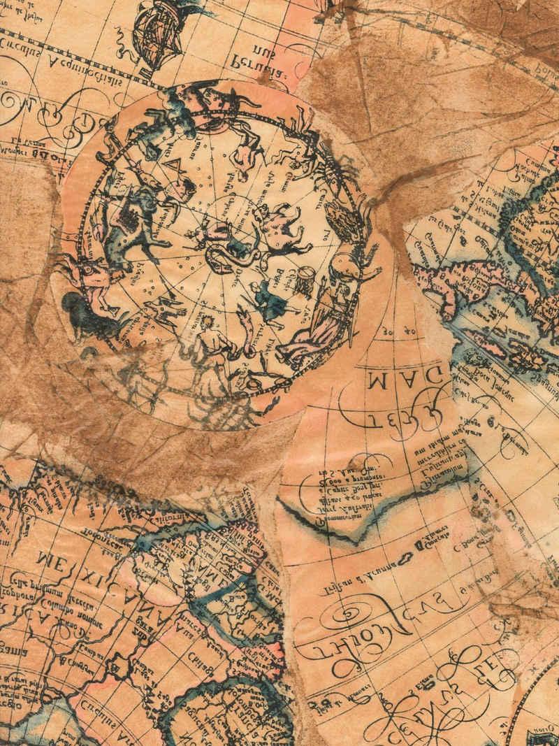 décopatch Motivpapier »Landkarte«, 39 cm x 30 cm