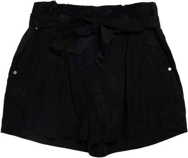 Hosen - Superdry Shorts »DESERT PAPER BAG SHORTS« mit Bindegürtel › schwarz  - Onlineshop OTTO