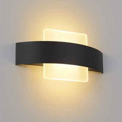 ZMH LED Wandleuchte »Innen Wandlampe Wohnzimmer 6W aus Acryl Modern Bettlampe«