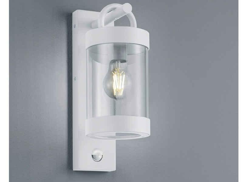 meineWunschleuchte LED Außen-Wandleuchte, Landhaus Fassaden-Beleuchtung, Weiß, mit Bewegungsmelder, Wand-Laterne, moderne Hausbeleuchtung für draußen, Terrasse