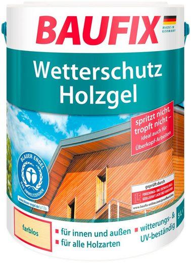 Baufix Holzschutzlasur »Wetterschutz-Holzgel«, 5 Liter, transparent