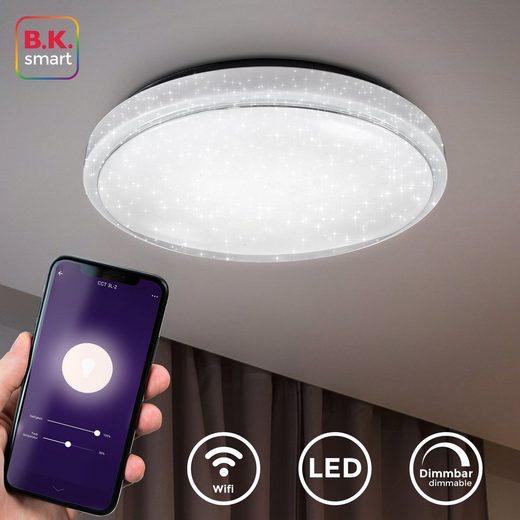 B.K.Licht LED-Sternenhimmel, WiFi LED Sternenhimmel, Sprachbedenung, Steuerbar per App, Dimmbar, Farbtemperatur wählbar
