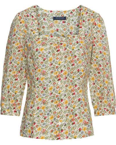 Highmoor Druckbluse »3/4-Bluse mit Blumendruck«