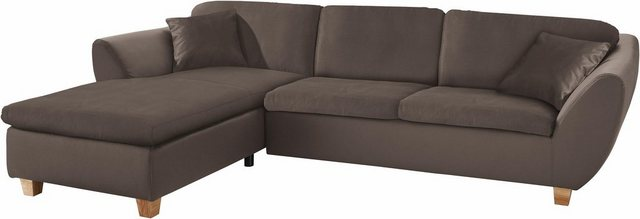 DOMO collection Ecksofa, wahlweise mit Federkern | Wohnzimmer > Sofas & Couches > Ecksofas & Eckcouches | Braun | DOMO collection