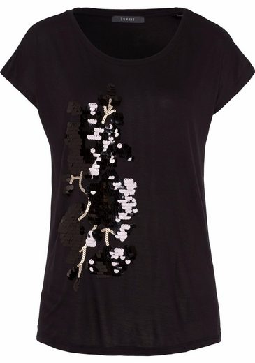 ESPRIT Collection T-Shirt, mit Paillettenbesatz auf der Vorderseite