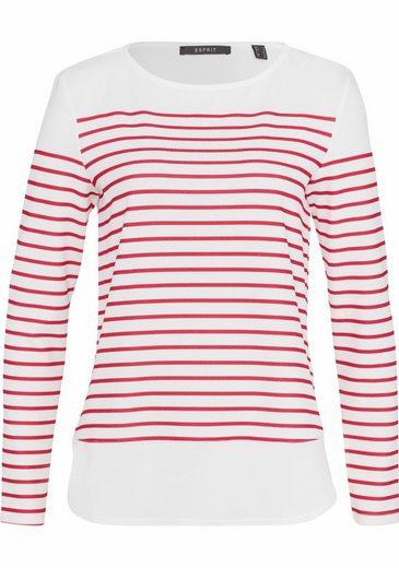 ESPRIT Collection Langarmshirt, mit Streifenmuster und Layer-Look