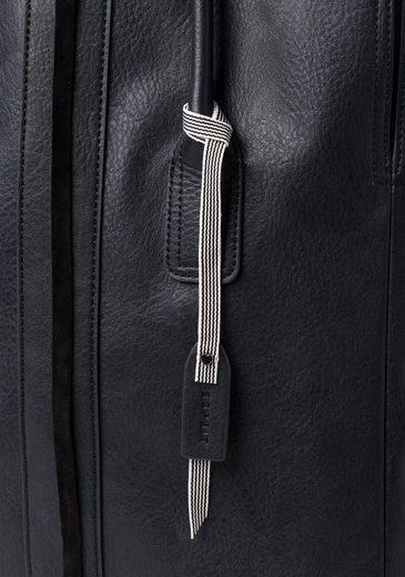 ESPRIT Shopper ABBY, aus echtem Rindsleder mit Bindebändern