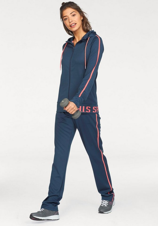 H.I.S Trainingsanzug (Set, 2 tlg) | Sportbekleidung > Sportanzüge > Trainingsanzüge | Blau | H.I.S