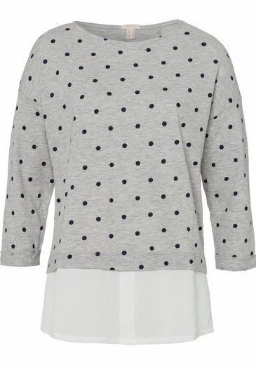 ESPRIT Rundhalsshirt, im Lagen-Look