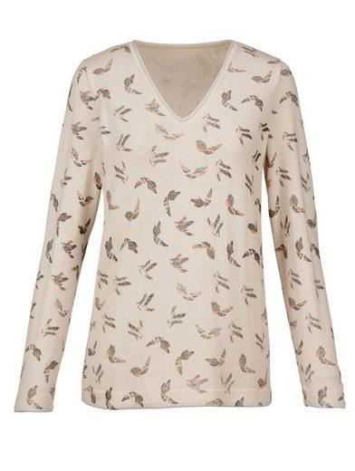 Mona Pullover mit Vogeldessin