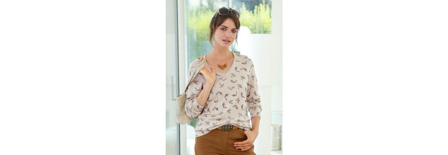 Mona Pullover Mona Pullover Vogeldessin mit TqB6wZdv