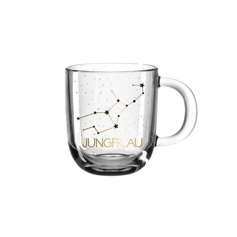 LEONARDO Tasse »Astro Becher Sternzeichen Jungfrau 0,3l«, Glas