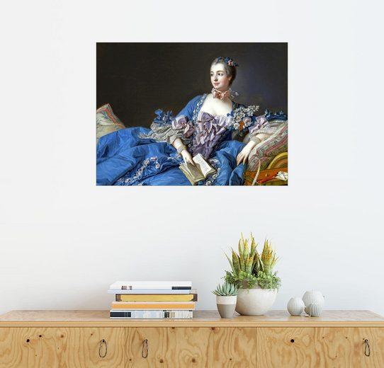 Posterlounge Wandbild - François Boucher »Madame de Pompadour«