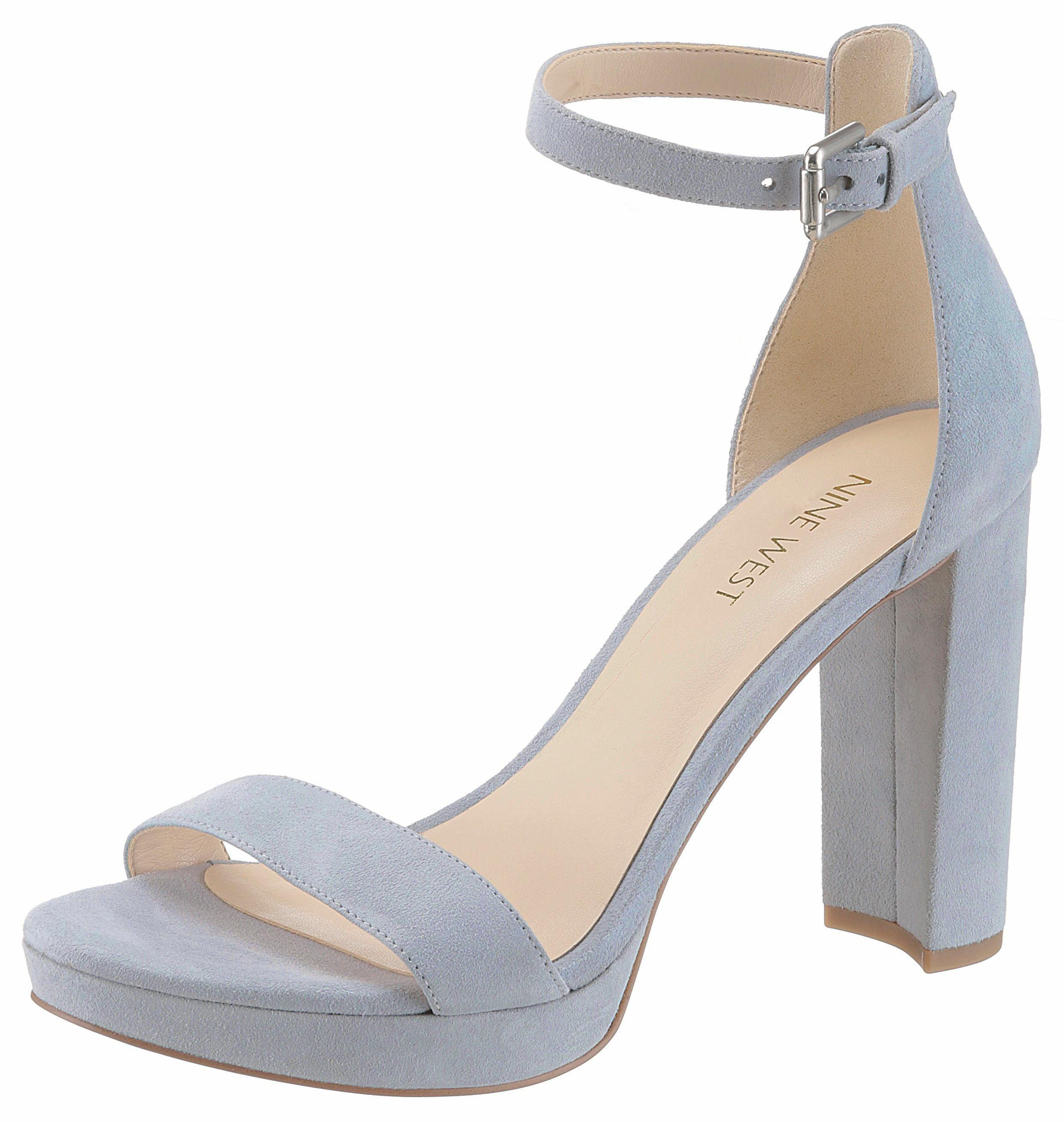 Nine West Dempsey High-Heel-Sandalette, mit Fesselriemchen online kaufen  hellblau