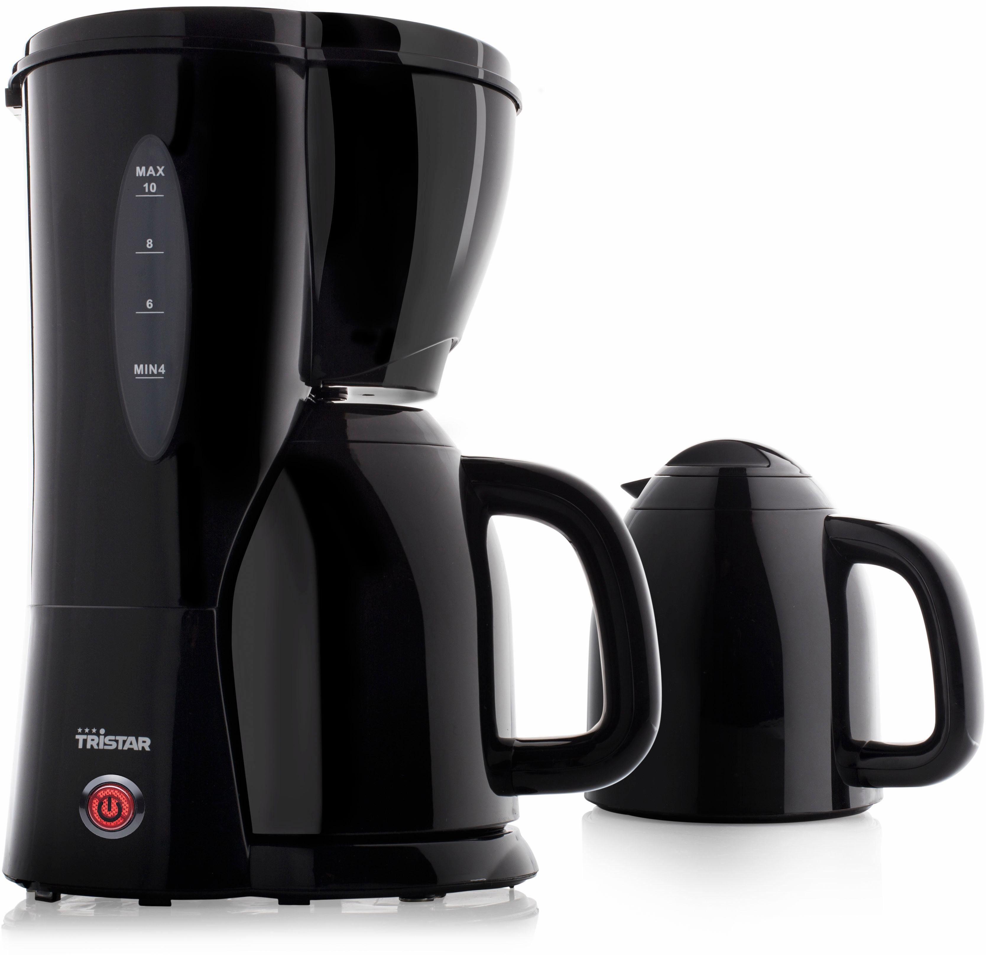 Tristar Filterkaffeemaschine Kaffeemaschine CM-1244, 1l Kaffeekanne, Papierfilter 1x4, mit 2 Isolierkannen