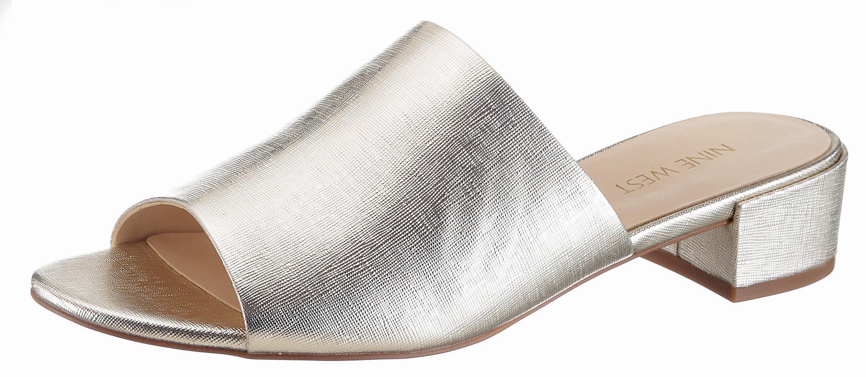 Nine West Raissa3 Pantolette, im trendigen Metallic-Look online kaufen  goldfarben