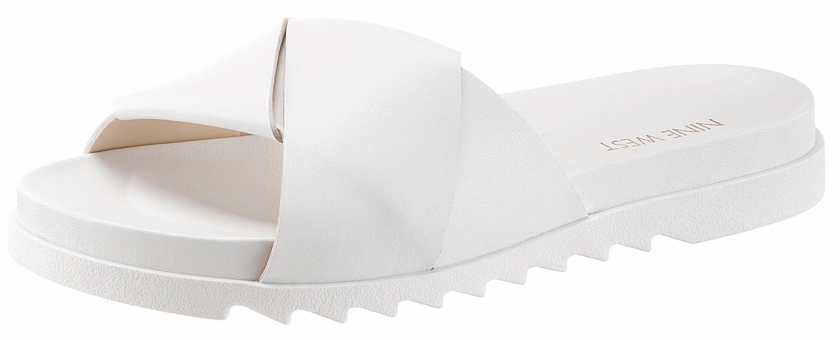 Nine West »Furaish3« Pantolette, im sportiven Look, weiß, EURO-Größen, weiß