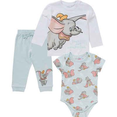 Disney Strampler »Disney Dumbo Baby Set Strampler + Langarmshirt +«