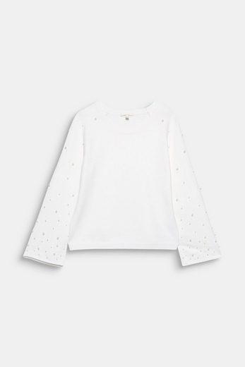 ESPRIT Boxy Pullover mit Perlen-Applikation