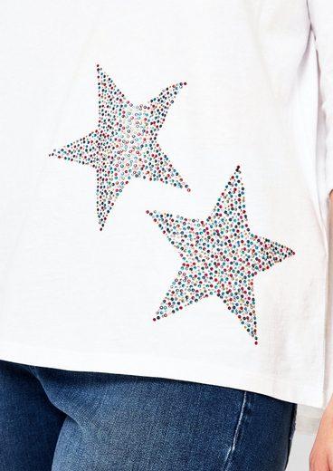 TRIANGLE T-Shirt mit Schmucksteinen