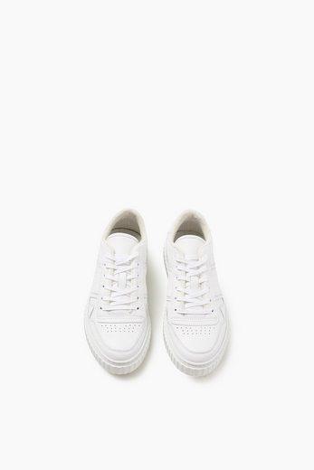 Sneaker Rétro Esprit Urbain En Cuir
