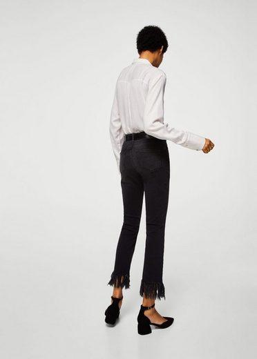 MANGO Jeans mit ausgefransten Abschlüssen