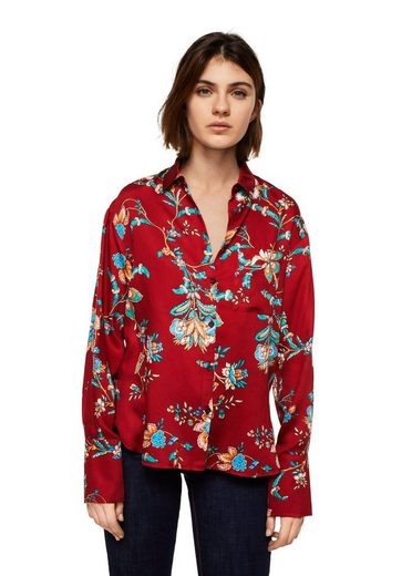 Mango Shirt With Floral Pattern
