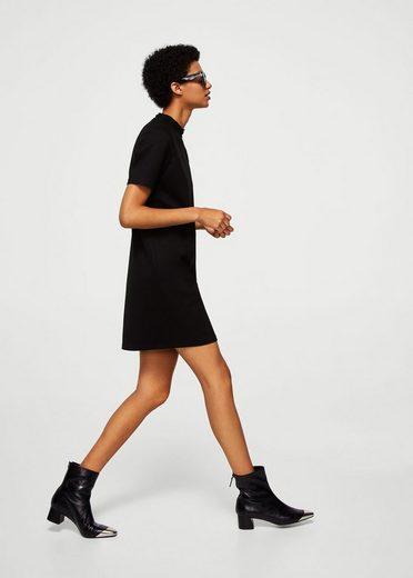 MANGO Kleid mit drapiertem Kragen