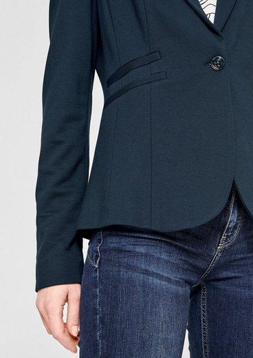 s.Oliver BLACK LABEL Taillierter Jerseyblazer