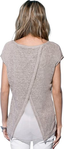 Création L Shirt In Airy, Light Material-mix