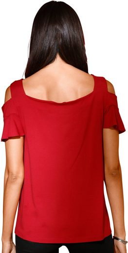 Création L Shirt mit kurzen Volant-Ärmel