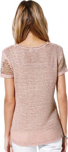 Création L Pullover aus weichem Bändchengarn