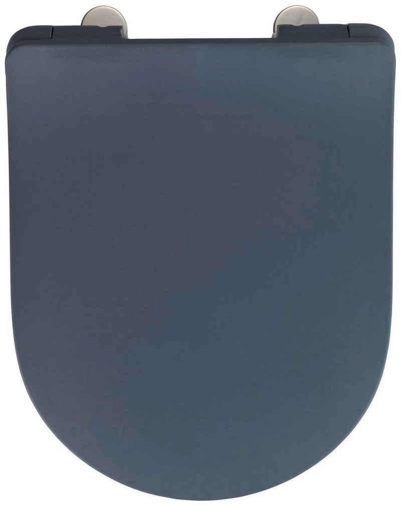 WENKO WC-Sitz »Sedilo matt Schwarz« (1-St), aus Duroplast, mit Absenkautomatik