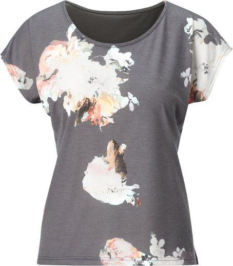 Ambria Shirt mit großen Blüten bedruckt