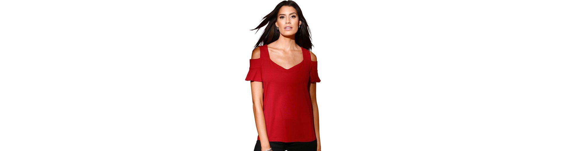 Création L Shirt mit kurzen Volant-Ärmel Freies Verschiffen Neue Ankunft Spielraum Neu 2018 Billig Verkaufen Shop Für Online cucN6wGzJy