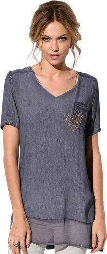 Création L Shirtbluse in weicher Viskose-Qualität