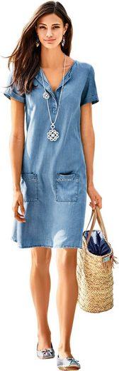 Classic Inspirationen Kleid in Jeans-Optik