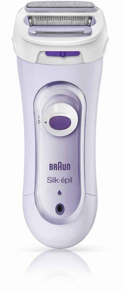 Braun Elektrokörperrasierer Silk-épil 5-560, Aufsätze: 3, 3-In-1 Rasierer, Trimmer- & Peeling-System, Kabellos