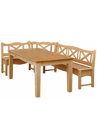 HOME AFFAIRE Kampinis virtuvės suolas su kėdėmis »V...