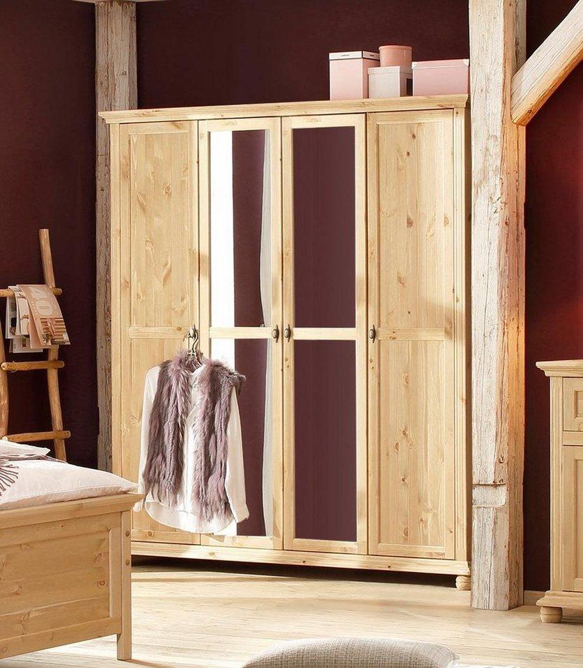 Home affaire Drehtürenschrank »Irena« aus Massivholz, in vier  verschiedenen, Breiten und zwei Farben online kaufen   OTTO