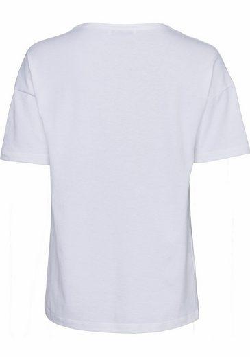 Lacoste Rundhalsshirt, mit markentypischem Detail