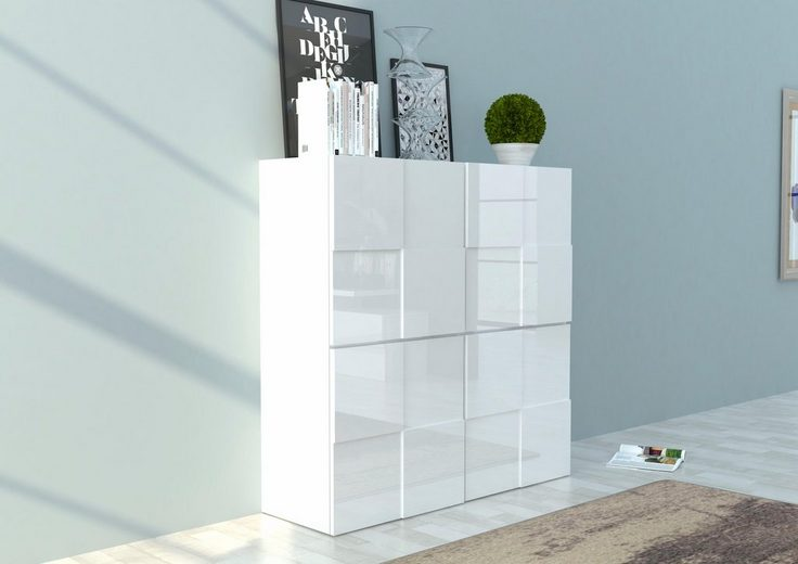 INOSIGN Highboard in 3D-Optik, Breite 120 cm